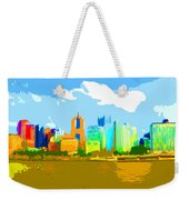 Impressionist Pittsburgh From The North Side Weekender Tote Bag