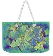 Impressionistic Blue Blossoms Weekender Tote Bag