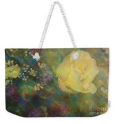 Impressionistic Yellow Rose Weekender Tote Bag