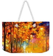 Improvisation Of Trees - Palette Knife Oil Painting On Canvas By Leonid Afremov Weekender Tote Bag