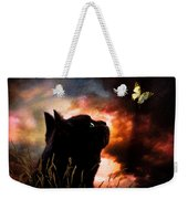 In A Cats Eye All Things Belong To Cats.  Weekender Tote Bag
