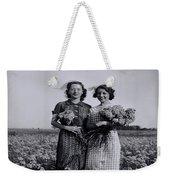 In A Field Of Flowers Vintage Photo Weekender Tote Bag