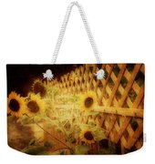 Sunflowers And Lattice Weekender Tote Bag