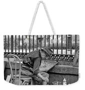 In Another World Monochrome Weekender Tote Bag