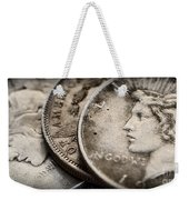 In God We Trust_silver Dollars Weekender Tote Bag