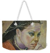 In Her Thoughts Weekender Tote Bag