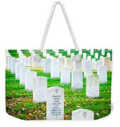In Honor And Tribute Weekender Tote Bag by Greg Fortier