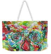 In Silence The Inaudible Voices Spoke Weekender Tote Bag