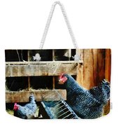 In The Chicken Coop Weekender Tote Bag