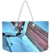 In The Coldest Of Days...i Still Wait... Weekender Tote Bag