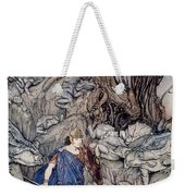 In The Forked Glen Into Which He Slipped At Night-fall He Was Surrounded By Giant Toads Weekender Tote Bag by Arthur Rackham