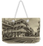 In The French Quarter Sepia Weekender Tote Bag