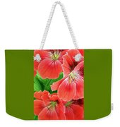 In The Garden. Geranium Weekender Tote Bag