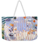 In The Garden Table With Oranges  Weekender Tote Bag