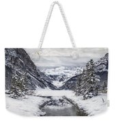 In The Heart Of The Winter Weekender Tote Bag