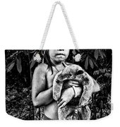 Girl With Oso Dormilon Weekender Tote Bag