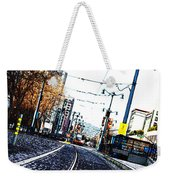In The Path Of A Cable Car Weekender Tote Bag