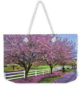 In The Pink Weekender Tote Bag by Debra and Dave Vanderlaan