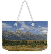 In The Shadow Of The Tetons Weekender Tote Bag