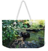 In The Shadows Of The Creek Weekender Tote Bag