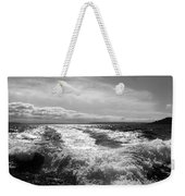 In The Wake In Black And White Weekender Tote Bag