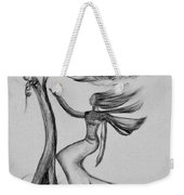 In The Wind She Dances Weekender Tote Bag