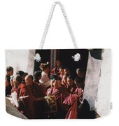 In Tibet Tibetan Monks 5 By Jrr Weekender Tote Bag
