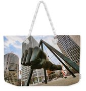 In Your Face -  Joe Louis Fist Statue - Detroit Michigan Weekender Tote Bag by Gordon Dean II