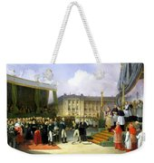 Inauguration Of A Monument In Memory Of Louis Xvi 1754-93 By Charles X 1757-1836 At The Place De La Weekender Tote Bag