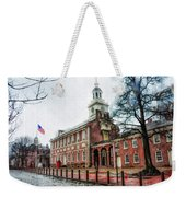 Independence Hall From Chestnut Street Weekender Tote Bag