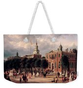Independence Hall In Philadelphia Weekender Tote Bag