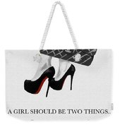 Independent Quote Black And White Weekender Tote Bag