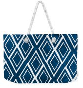 Indgo And White Diamonds Large Weekender Tote Bag