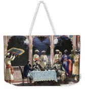 India  British Colonial Era  Banquet At The Palace Of Rais In Mynere Weekender Tote Bag