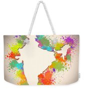 India Watercolor Map Painting Weekender Tote Bag