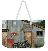 Indian Chout At The Old Okains Bay Garage 1 Weekender Tote Bag