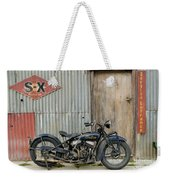 Indian Chout At The Old Okains Bay Garage 2 Weekender Tote Bag