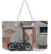 Indian Chout At The Old Okains Bay Garage 3 Weekender Tote Bag