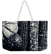 Indian Corn And Squash In Black And White Weekender Tote Bag