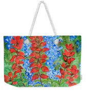 Indian Paintbrush And Bluebonnets Weekender Tote Bag
