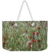 Indian Paintbrush And Foxtail Barley Weekender Tote Bag
