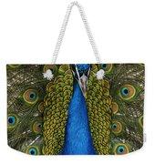 Indian Peafowl Male In Full Display Weekender Tote Bag