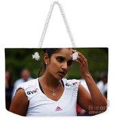 Indian Tennis Player Sania Mirza Weekender Tote Bag by Nishanth Gopinathan