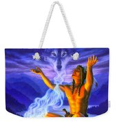 Indian Wolf Spirit Weekender Tote Bag