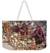 Indian Women Selling Pottery Weekender Tote Bag