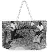 Indian Women Winnowing Wheat Weekender Tote Bag