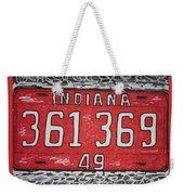 Indiana 1949 License Platee Weekender Tote Bag