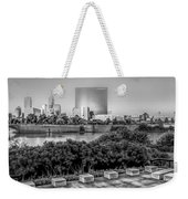 Indiana - Downtown From Across White River Panoramic Weekender Tote Bag