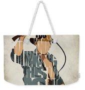 Indiana Jones - Harrison Ford Weekender Tote Bag by Ayse Deniz