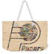 Indiana Pacers Poster Art Weekender Tote Bag